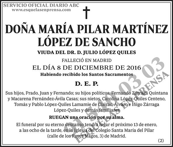 María Pilar Martínez López de Sancho